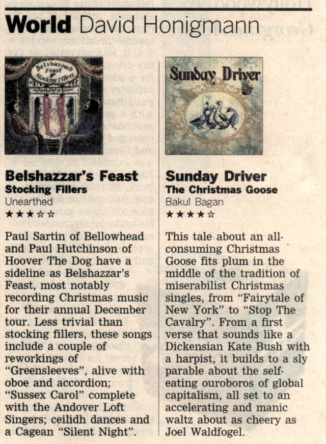 The Financial Times Gives Goose 4 Stars!